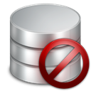 Database, delete, remove, db, Del DarkGray icon