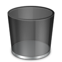Bin, recycle, Empty, Blank DarkSlateGray icon