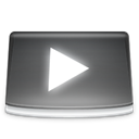 video, Folder DimGray icon
