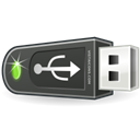 Pendrive, Usb Black icon