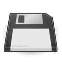 Floppy, disc, Disk, save Gainsboro icon
