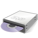 disc, Dvd, drive Black icon