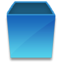 Empty, Blank SteelBlue icon