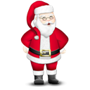 santa, claus Black icon