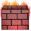 Firewall IndianRed icon
