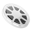 film, movie, video Black icon