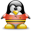 Penguin, Angola, Animal Black icon