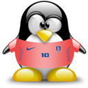 Penguin, republic, Animal, Korea Black icon