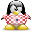 Penguin, Animal, Croatia Black icon