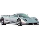Automobile, Car, transportation, pagani, racing car, sports car, vehicle, transport Black icon