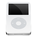 White, ipod, video Black icon