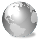 world, earth, globe, planet, Disconnected DarkGray icon