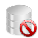 remove, delete, Del, db, Database Black icon