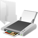 printer, Print, Folder Black icon