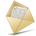 Message, oficina, Email, Letter, envelop, mail, abierto Black icon