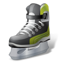Hockey, iceskate Black icon