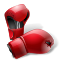 boxing, gloves Black icon