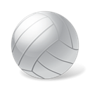 volleyball, Ball, sport Black icon