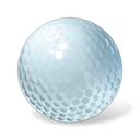 Ball, Golf Black icon