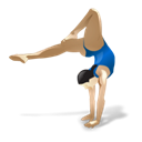Gymnastics Black icon