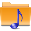 sound, Folder, Kde, voice Goldenrod icon