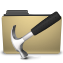 Folder, manilla, Development, Develop DarkKhaki icon