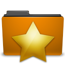 Orange, bookmark, Folder DarkGoldenrod icon