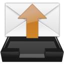 outbox, envelop, Message, mail, Letter, Email WhiteSmoke icon