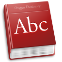 Accessory, dictionary Brown icon