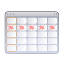 Calendar, Evolution, Schedule, date WhiteSmoke icon