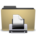 printer, Print, manilla, Folder DarkKhaki icon