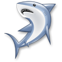 Animal, shark, wireshark, fish Black icon