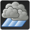 weather, climate, Shower DarkSlateGray icon