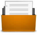 open, File, Orange, paper, document DarkGoldenrod icon