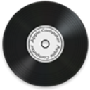 music, disc, save, Disk, gmusicbrowser, vinyl Black icon