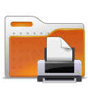 profile, Folder, printer, Human, people, Print, Account, user Chocolate icon