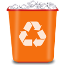 Del, Edit, write, delete, remove, writing DarkOrange icon