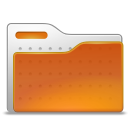 Orange, Folder, humanfolder Chocolate icon