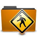 public, Folder, Orange DarkGoldenrod icon