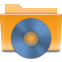 Cd, Folder, Kde, save, disc, Disk SteelBlue icon