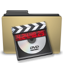 manilla, video, Folder Black icon