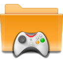 Game, Kde, gaming, Folder Goldenrod icon