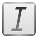 File, document, italic, Text, Format Gainsboro icon