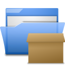 Tar, Folder CornflowerBlue icon