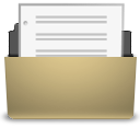 open, File, document, paper, manilla DarkKhaki icon