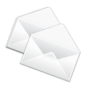 Copy, Duplicate, mail, Email, Letter, Message, envelop WhiteSmoke icon