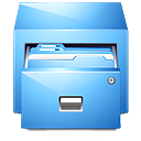 Drawer LightSkyBlue icon