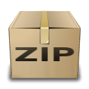 Application, Zip, Gnome, mime Tan icon