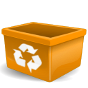 Account, recycle bin, Human, people, Trash, user, Blank, Orange, profile, Empty DarkGoldenrod icon