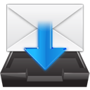 Letter, mail, Message, envelop, Email, Import, inbox, stock WhiteSmoke icon